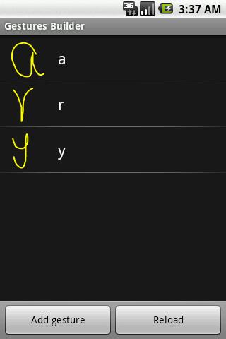 Android實(xian)現Gesture(shou)手勢(shi)識別用法分析